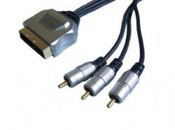 3 x Phono to Scart Cable - 5 Metre